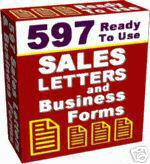 Product picture 597 business letters library.zip